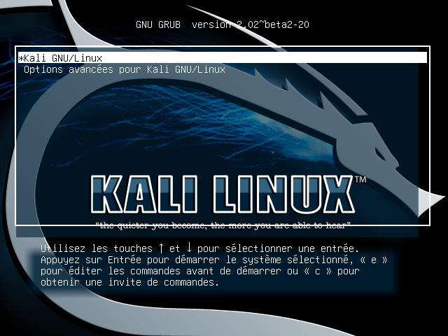 Linux-kali-grub