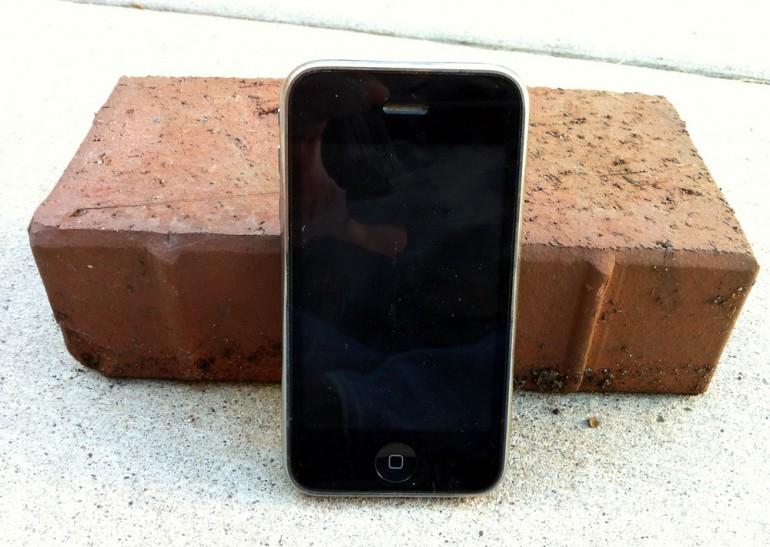 iPhone цегла кирпич